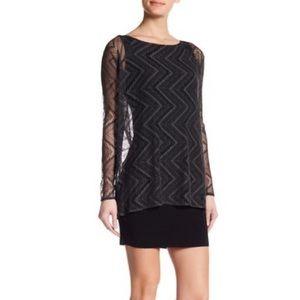 Bailey 44 Execute Dress Black Gray Size Medium